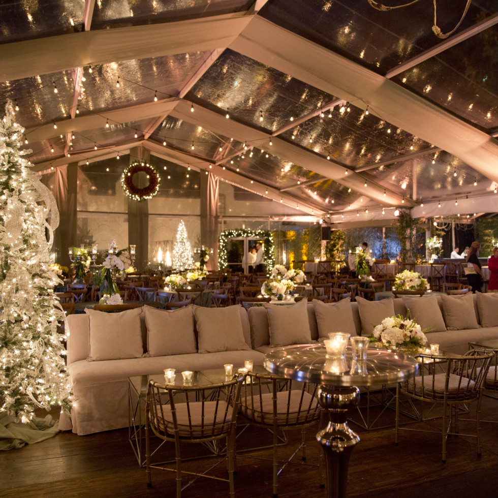 TCH Ambassadors holiday party tent