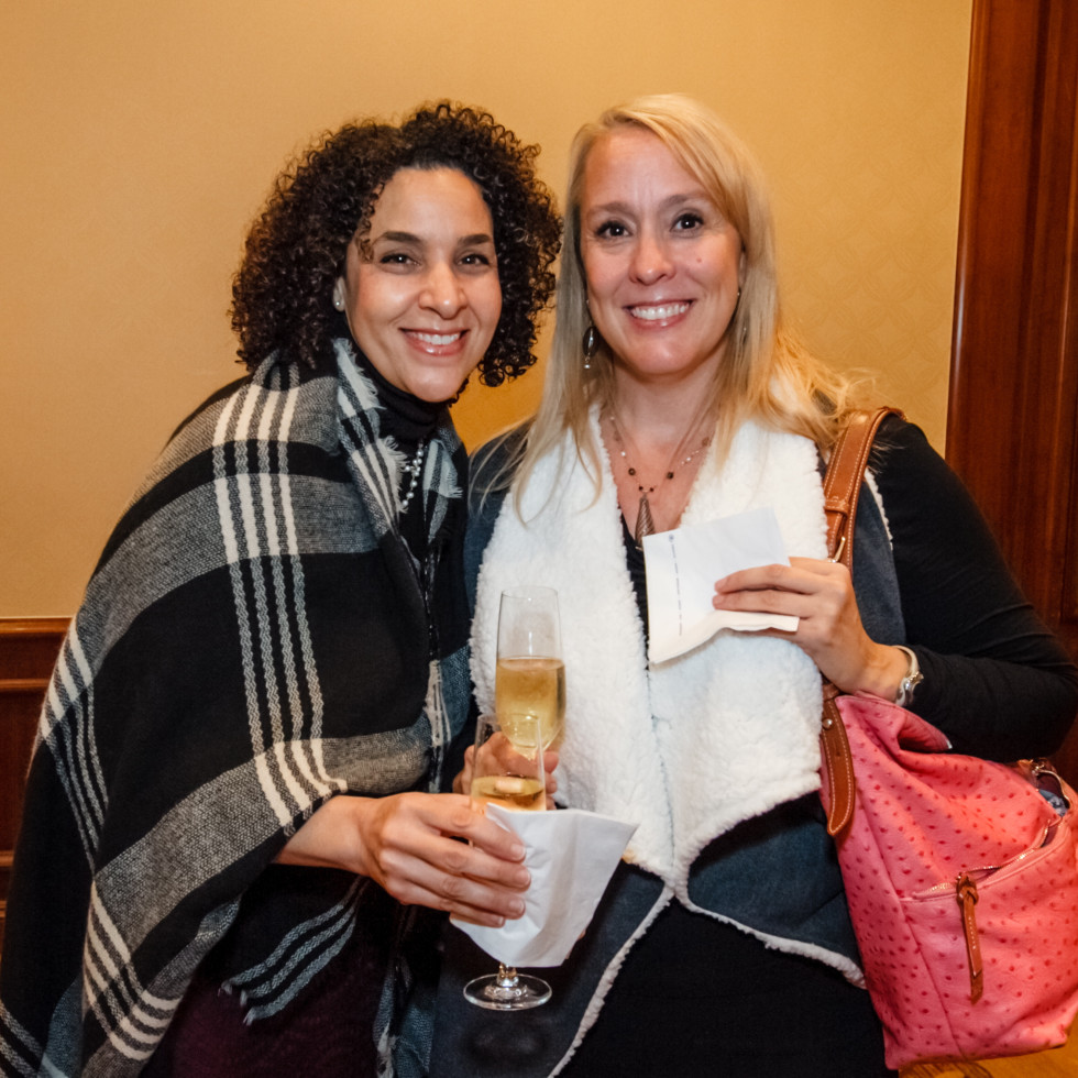 World AIDS Day luncheon Dina Whitaker; Nan Leverett