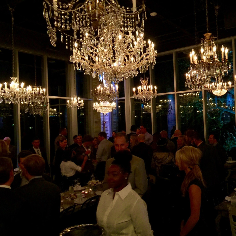 News, Equinox Opening Dinner, Dec. 2015, chandeliers
