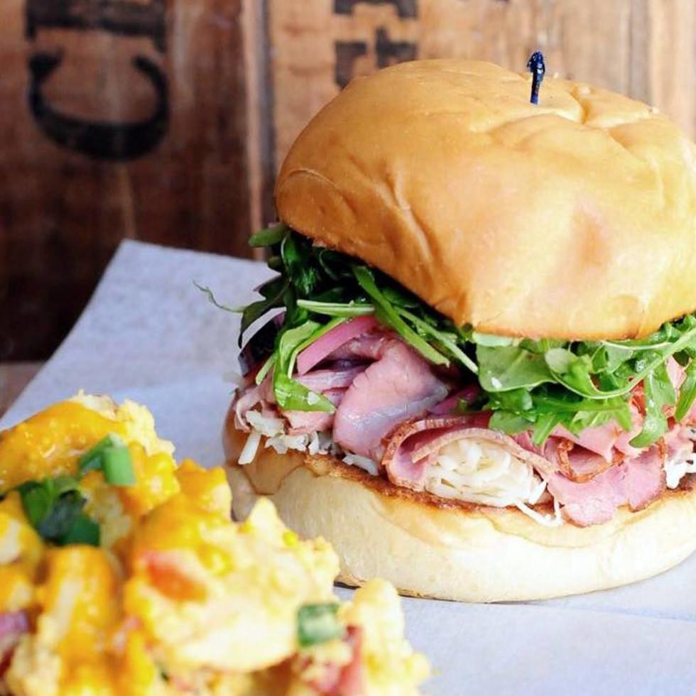 Houston, Revival Market, November 2015, roast beef sandwich