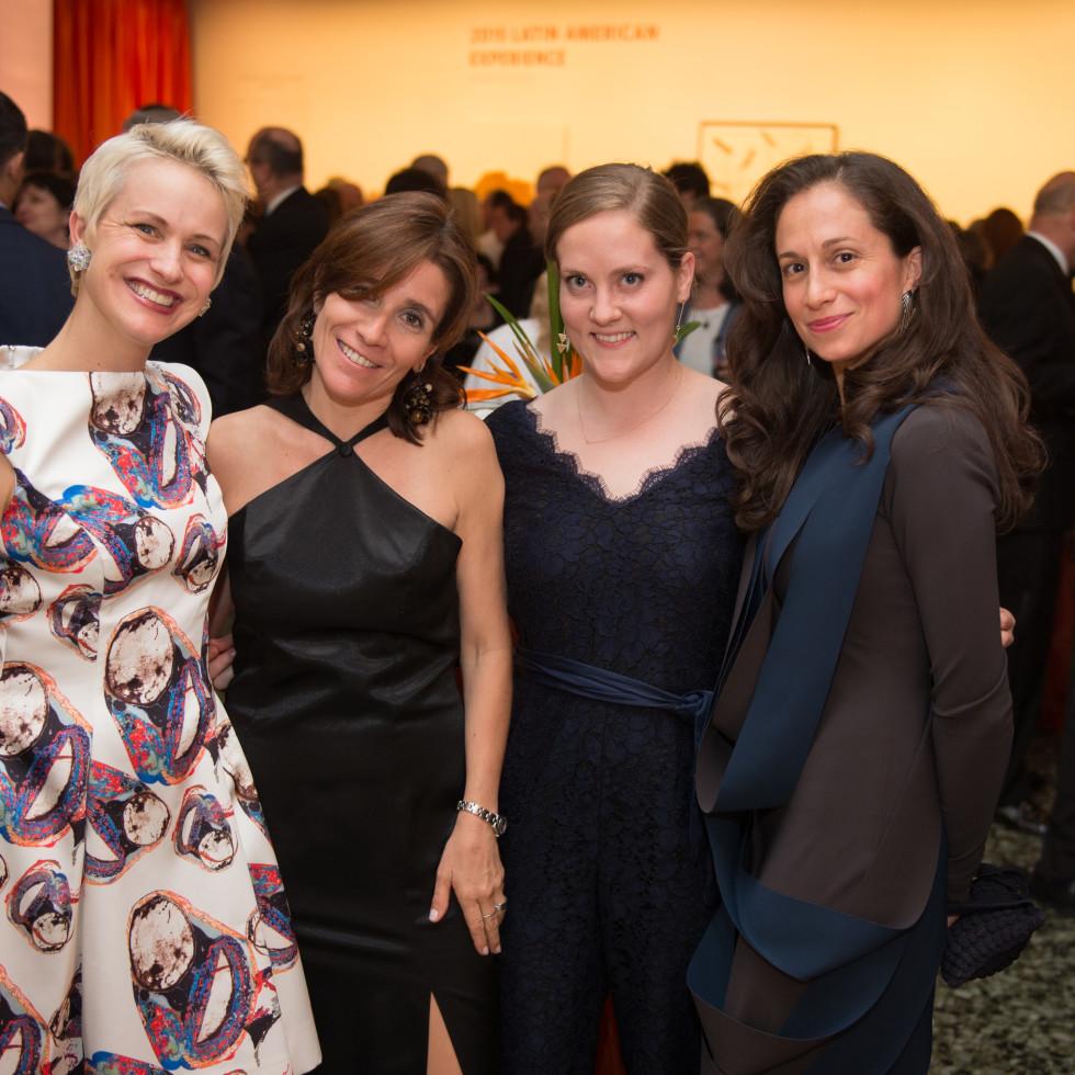 News, MfAH Latin Experience, Nov. 2015, Nicole Berry; Natalia Cacchiarelli; Caroline Stearns; Jennifer Andrade