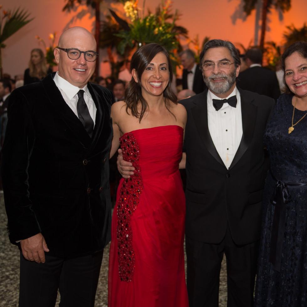 News, MFAH Latin Experience, Nov. 2015, Stephen and Johanna Donson; Miguel Rafael López Méndez and Olga Cecilia Patrón López;