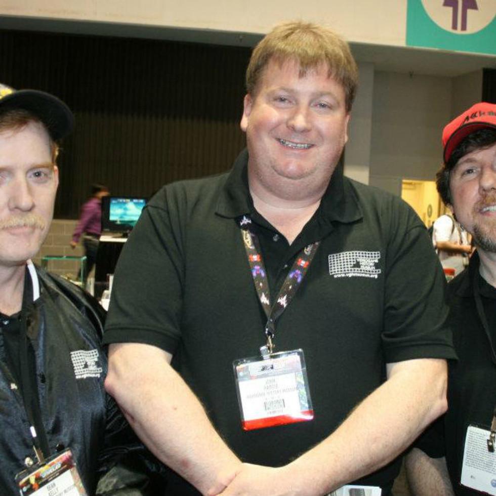 Sean Kelly, John Hardie, and Joe Santulli from the National Videogame Museum