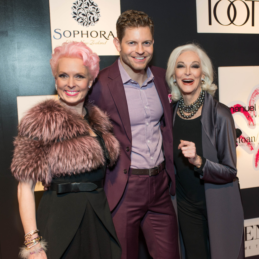 Vivian Wise, Jaymes Hayes, Carmen Dell'Orefice at Heart of Fashion
