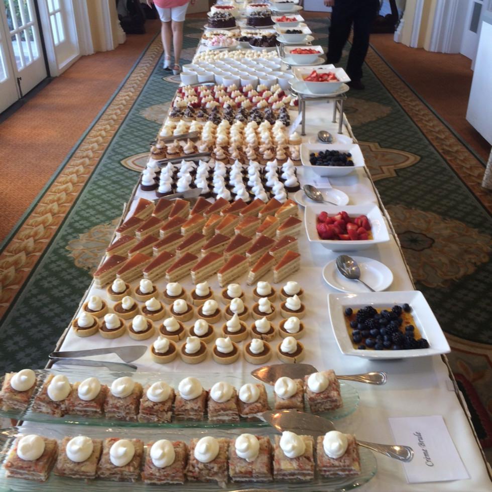 Desserts at Hotel Galvez Sunday brunch