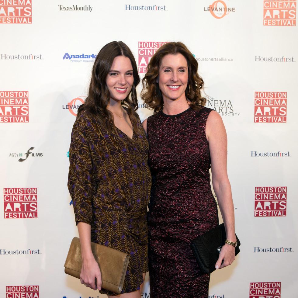 Houston, Cinema Arts Fest opening night, November 2015, Caroline Tudor, Phoebe Tudor