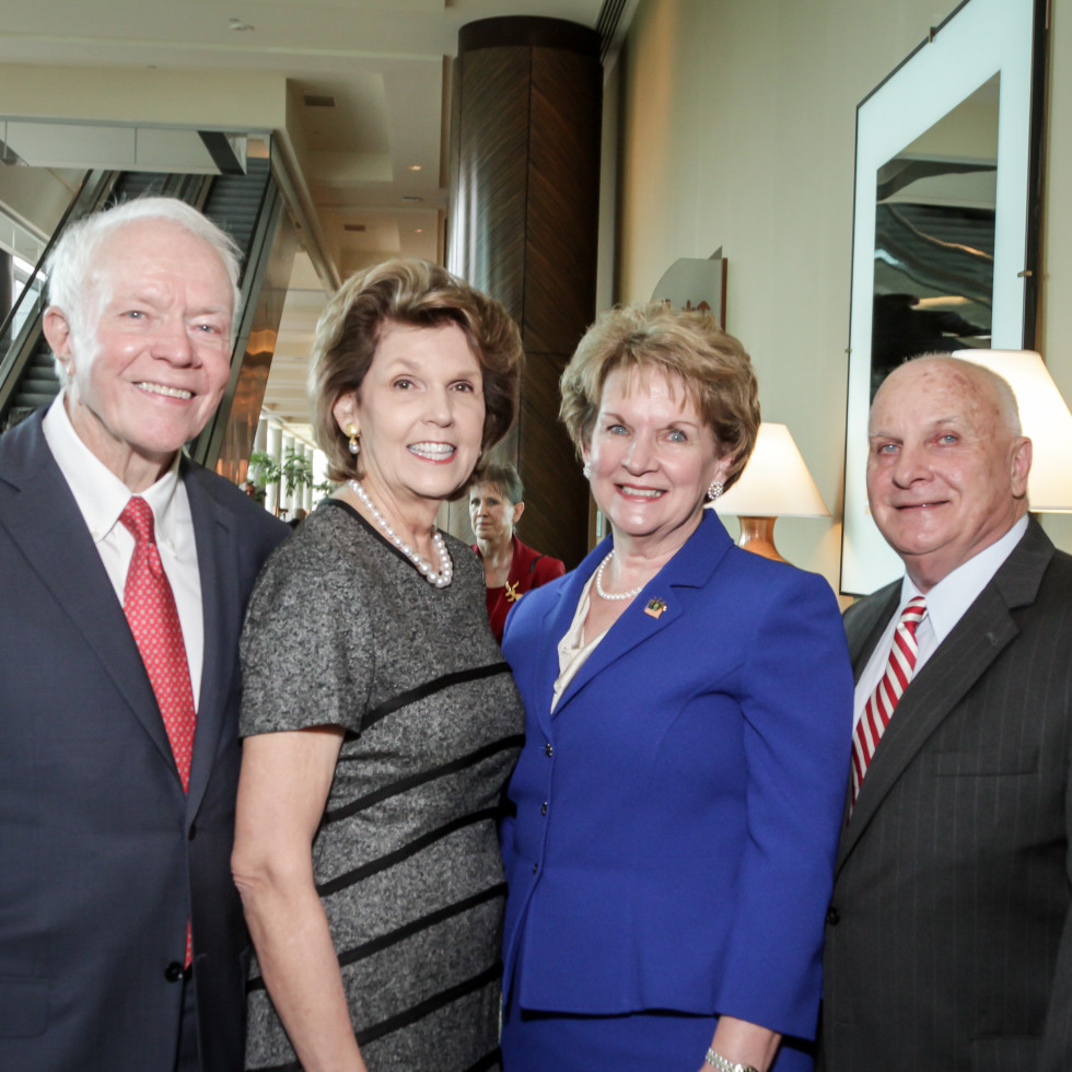 News, Shelby, Salvation Army luncheon, Nov. 2015, Thurmon Andress, Lilly Andress, Jim Wise