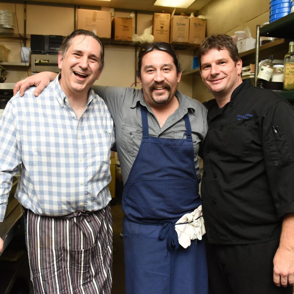 Urban Harvest dinner David Leftwich, from left, Randy Rucker and Mark Decker