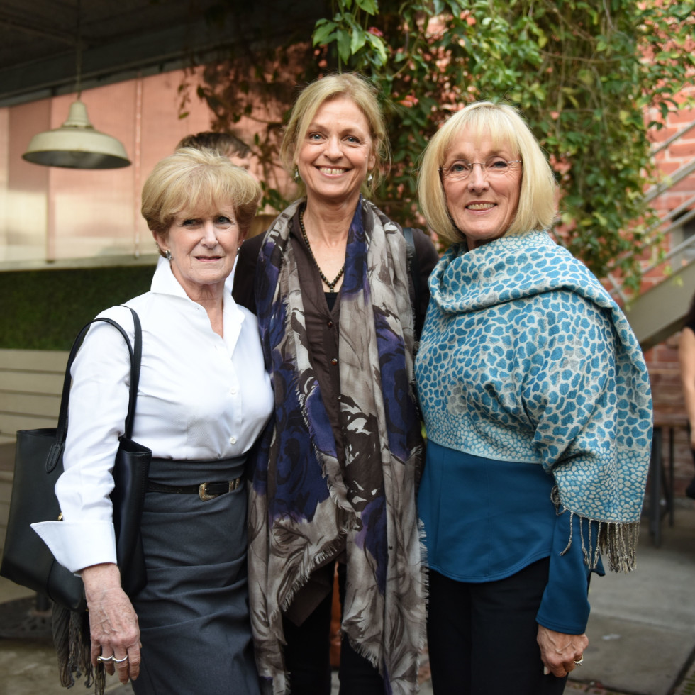 Urban Harvest dinner Olive Hughes, Beverly Robinson, Carolyn Davis