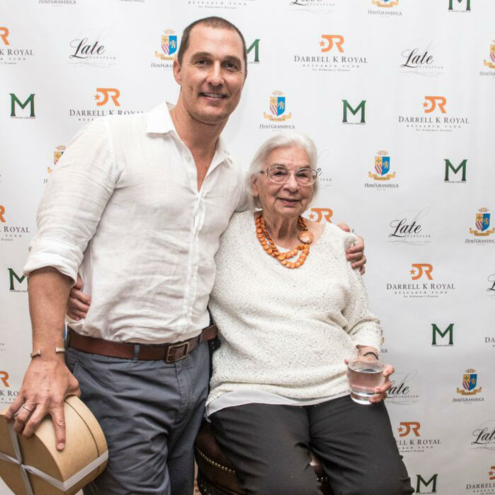 Matthew McConaughey Edith Royal 90th birthday