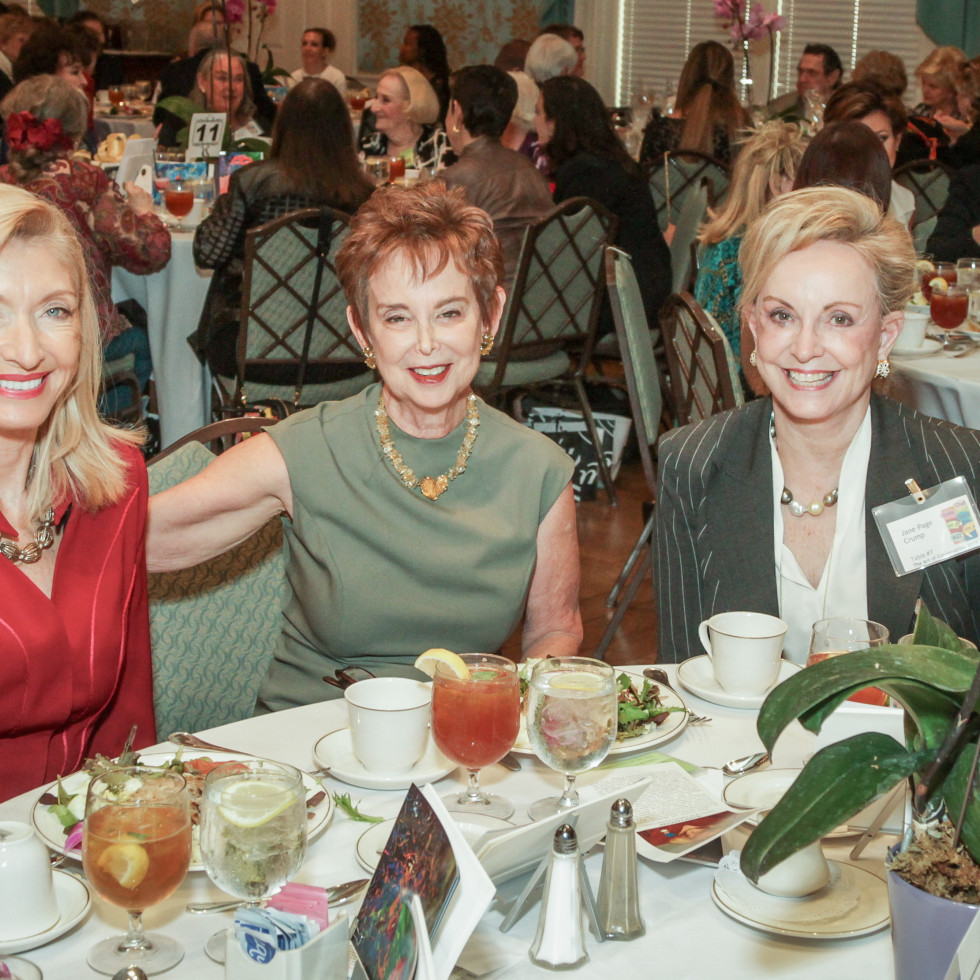 City ArtWorks luncheon Marie LeNotre, Evelyn Leightman, Jane Page Crump