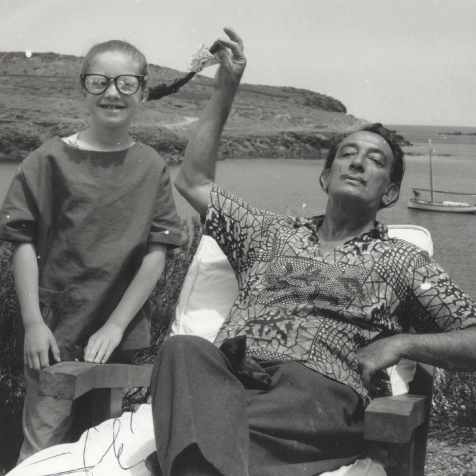 Salvador Dali and Christine Argillet