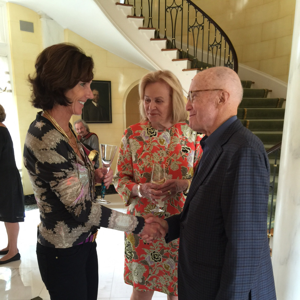 News, Shelby, Barbara Hines lunch on Venice, Oct. 2015, Heidi Gerger, Anne Duncan, Gerald Hines