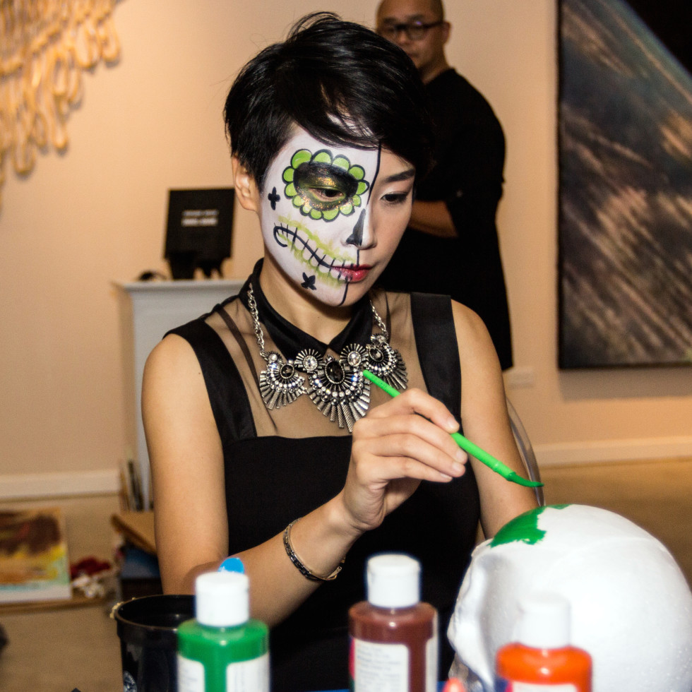 Houston, CultureMap Day of the Dead party, October 2015, Sandy Chen