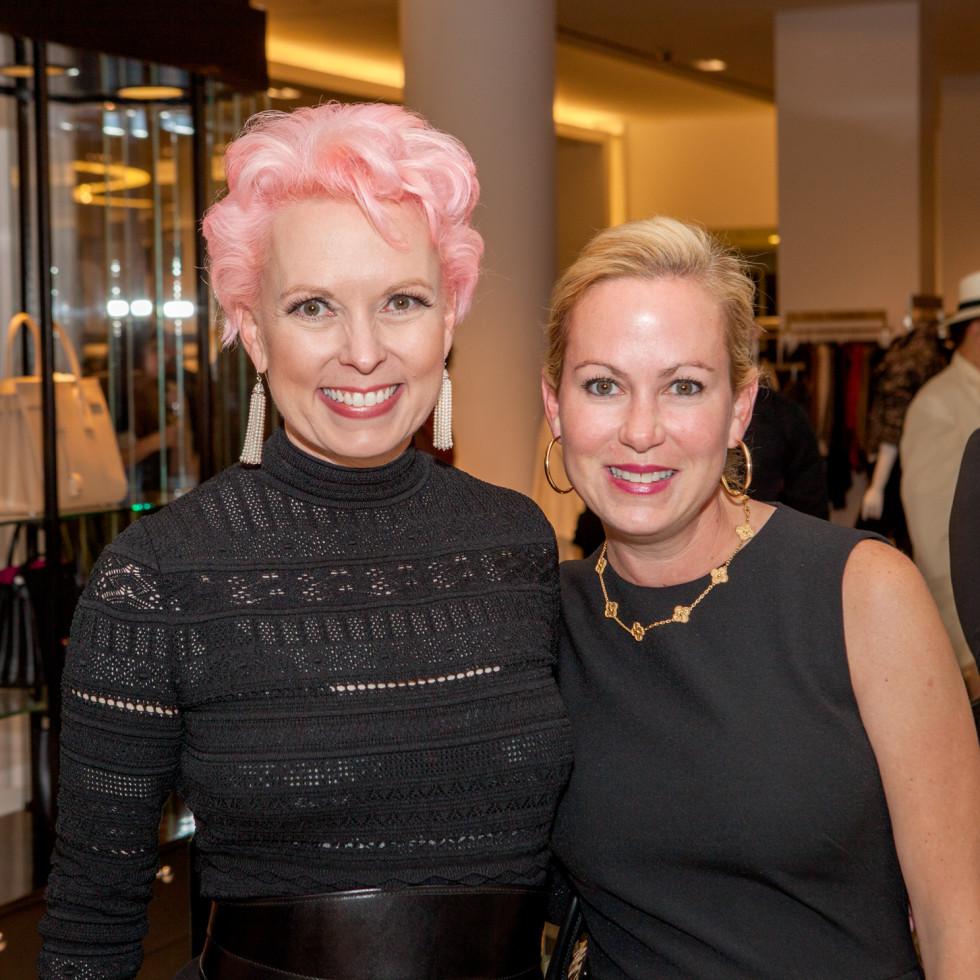 Vivian Wise, Genna Evans at Heart of Fashion kickoff party