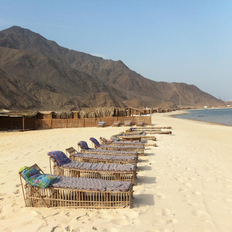Beach view at Sawa Camp Rash Sitan Sinai Egypt