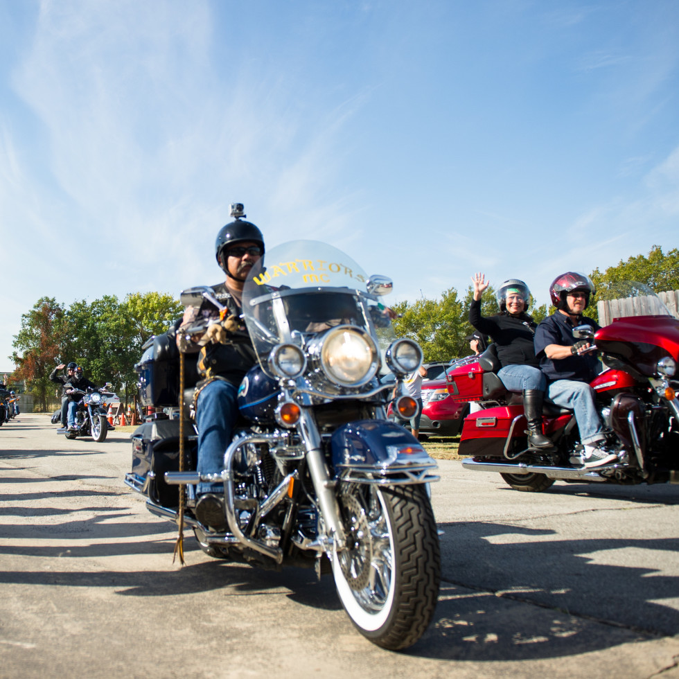 Christus Nun Run Bikers take off headed to San Leon TX