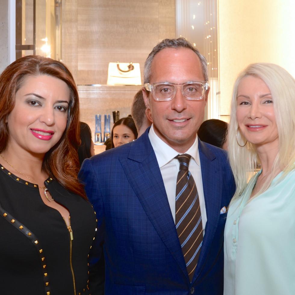Dior grand opening Parissa Mohajer, Mark Sullivan, Ludmila Luman