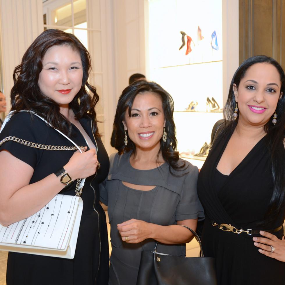Dior grand opening JL Clark, Chau Nguyen, Noreen Khan-Mayberry