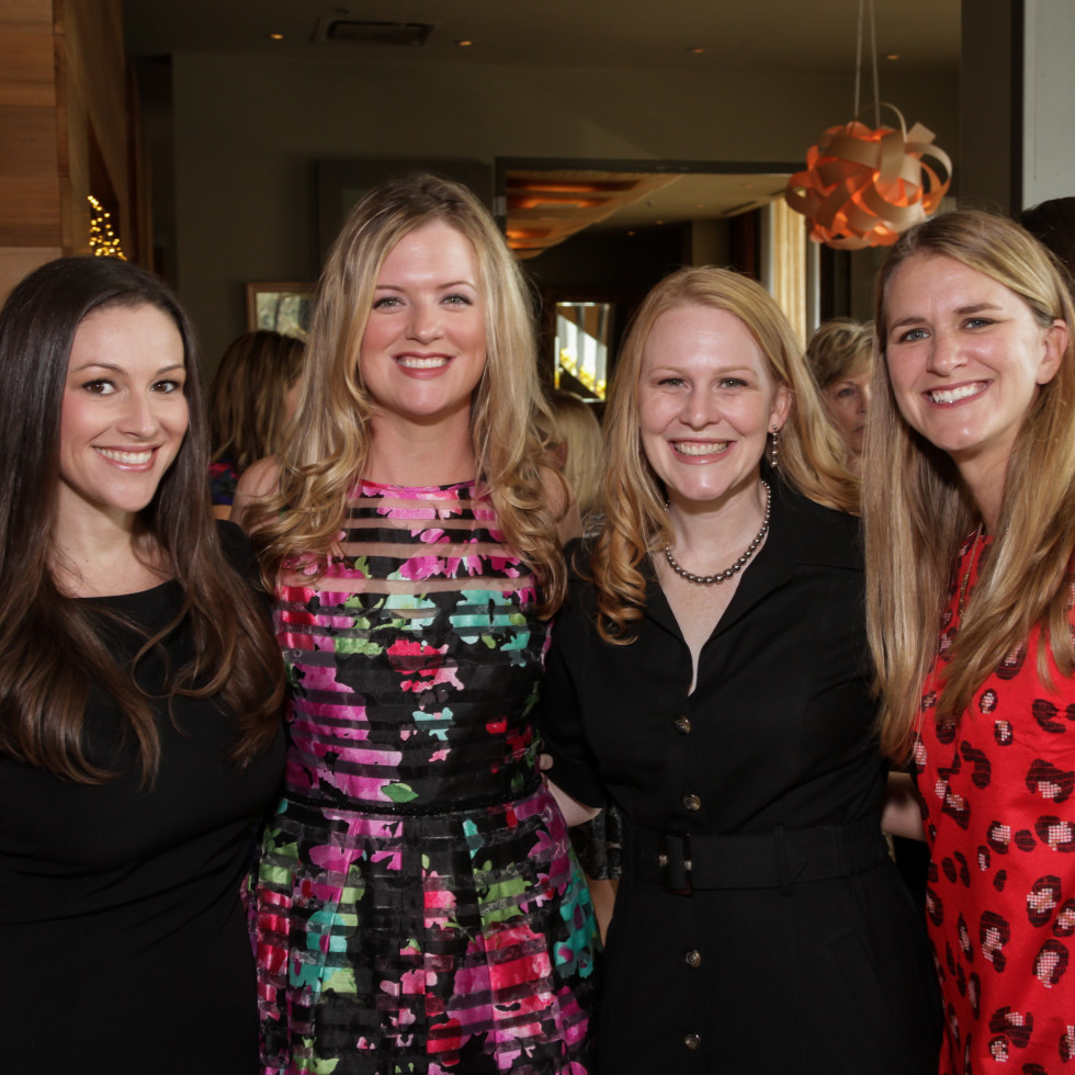 News, Shelby, Dec My Room luncheon, Oct. 2015 Christina Webb, Layne Clark, Lyndsey Havel, Karen Lake