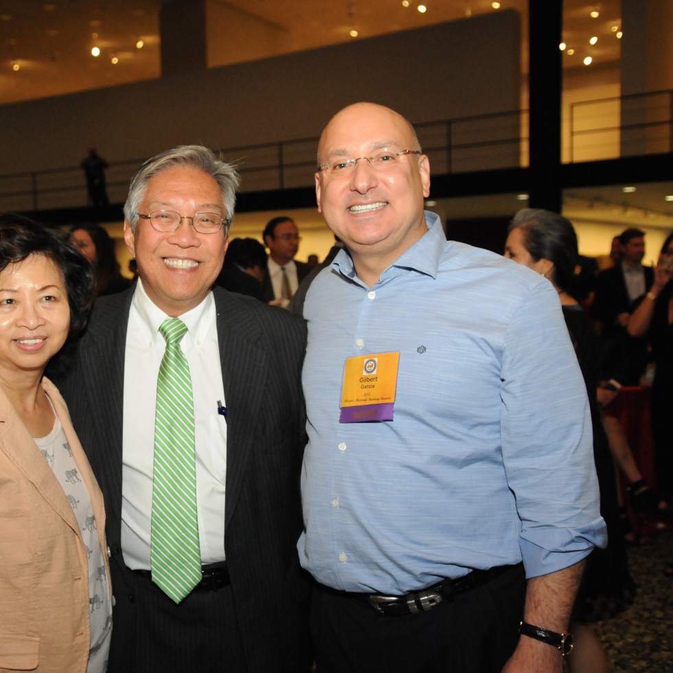 News, Shelby, Mayor's Hispanic Heritage Awards, Oct. 2015,  Sylvia and Gordon Quan, Gilbert Garcia