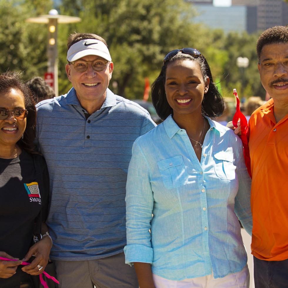 News, Shelby, Buffalo Bayou Park opening, Oct. 2015, Denise Bates, Scott McClelland, Winell Herron, Doug Herron