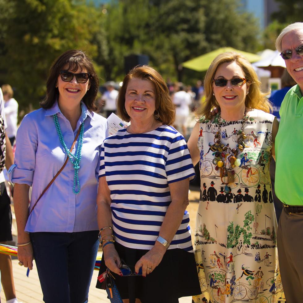 News, Shelby, Buffalo Bayou Park opening, Oct. 2015, Roxanne Neumann, Anne Olson, Nancy Kinder, Rich Kinder
