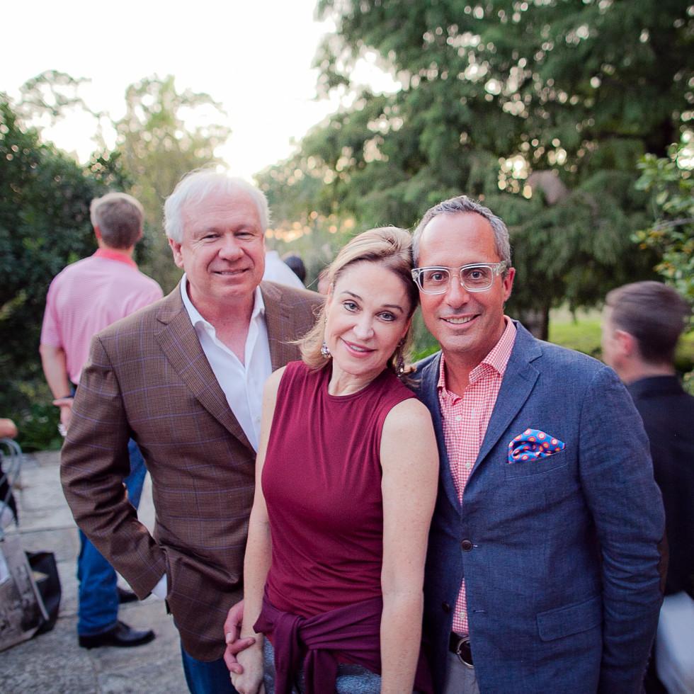 Houston, Robert Draper book signing, September 2015, John Thrash, Becca Cason Thrash and Mark Sullivan