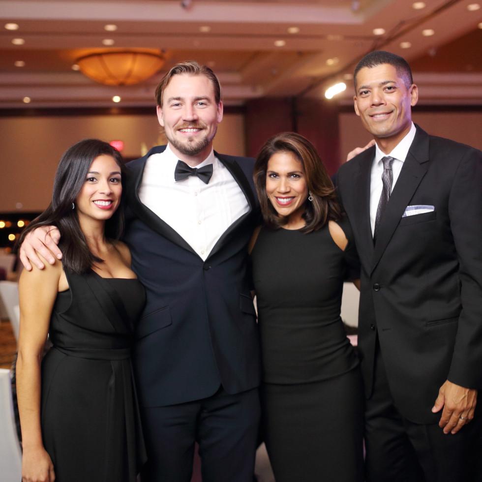 Big Brothers Big Sisters gala 2015 Ingrid Velasco, Nick Hughes, Rachel McNeill and Dr. Wayne Franklin