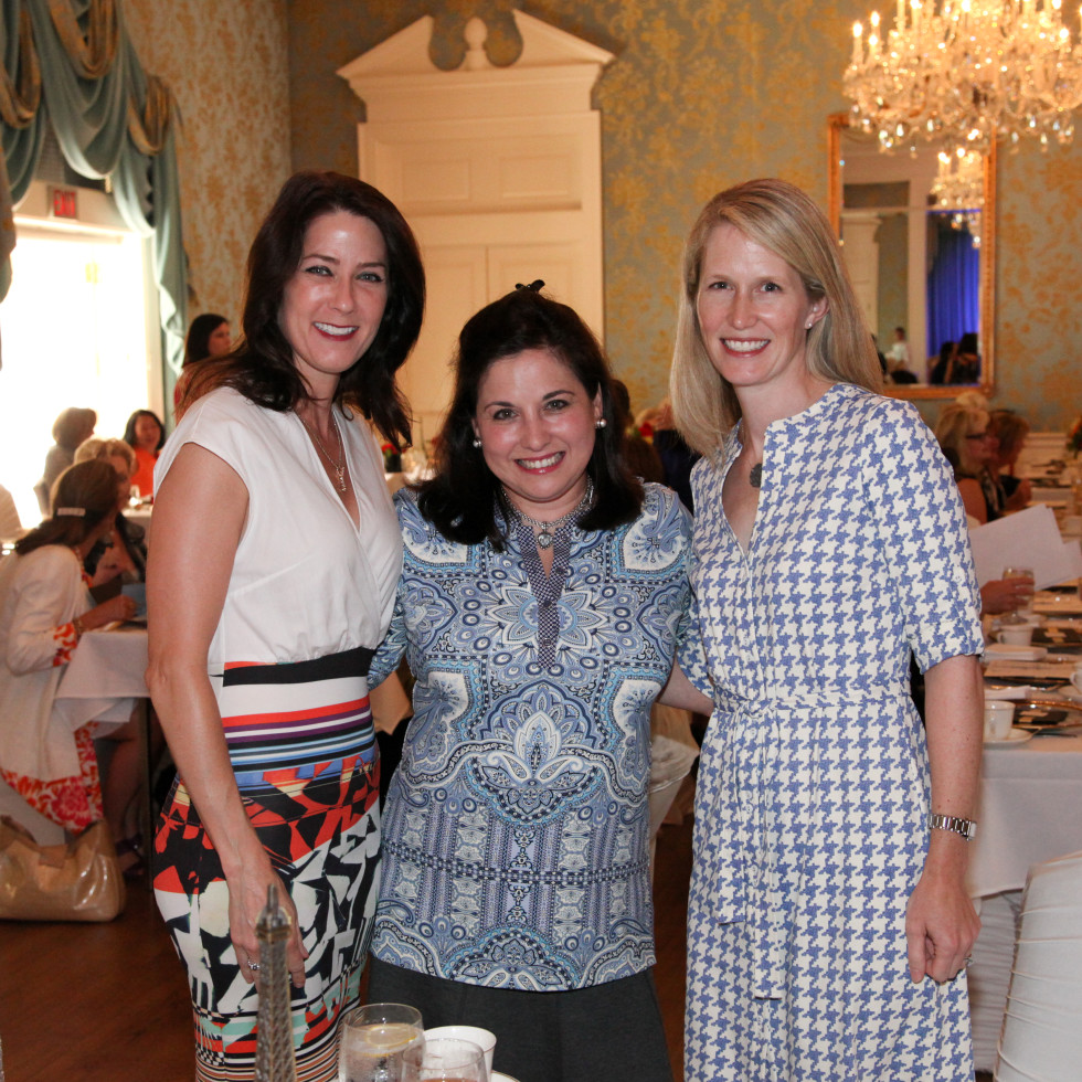 News, Shelby, Junior League Luncheon, Sept. 2015, Danielle Currier, Tina Villarreal, Whitney Gormley