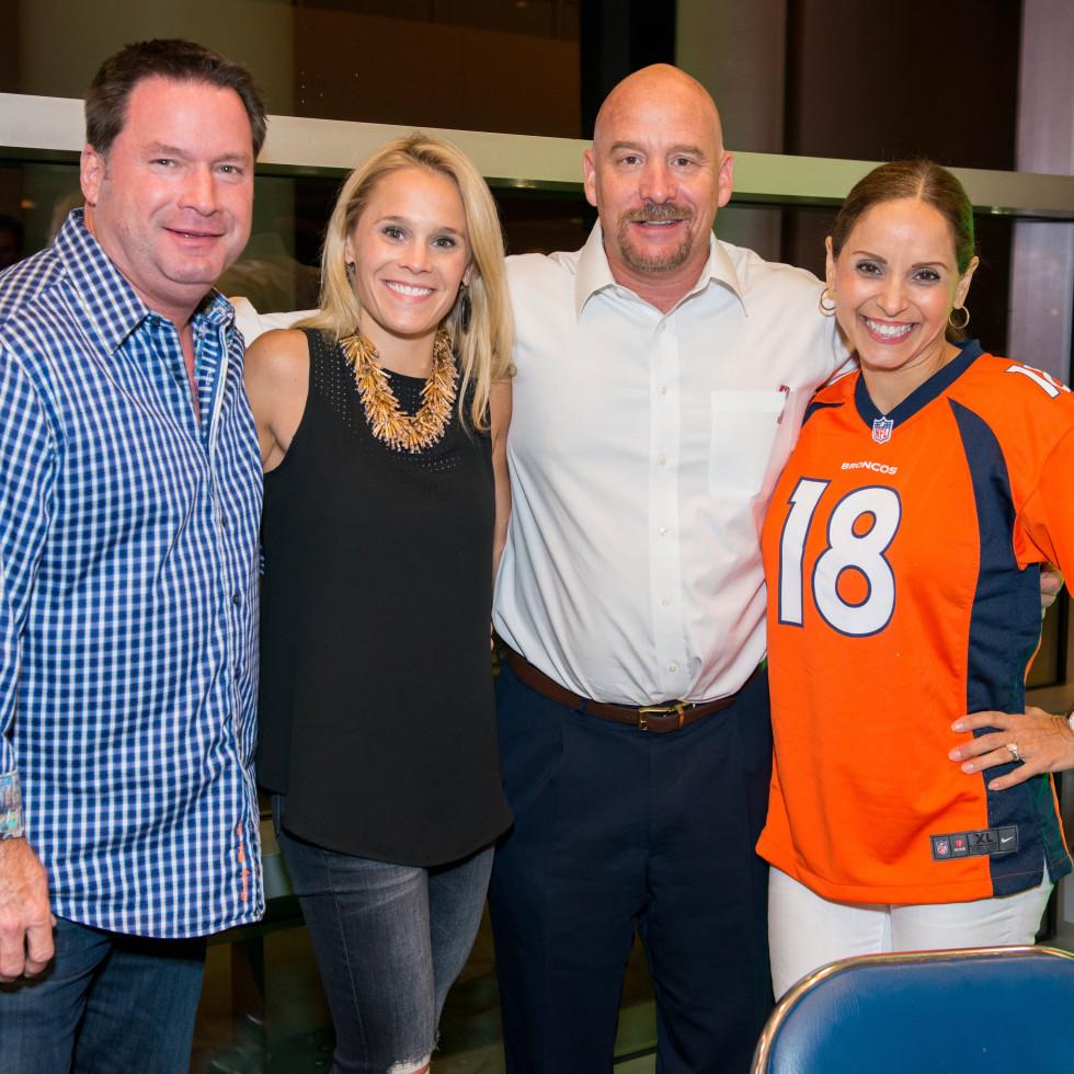 Fantasy Football draft 2015 Rob and MaryEllen Kimbrough, Grant and Elizabeth Harvey