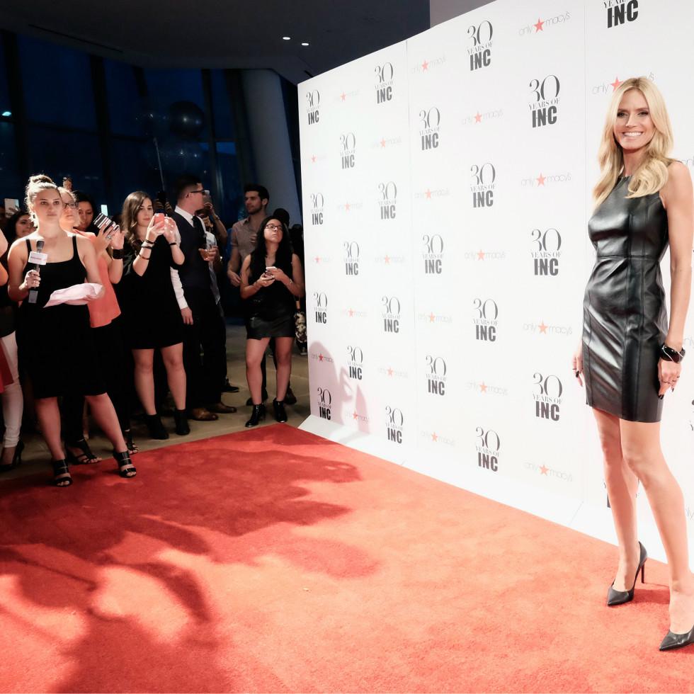 Heidi Klum at Macy'c INC party at New York Fashion Week