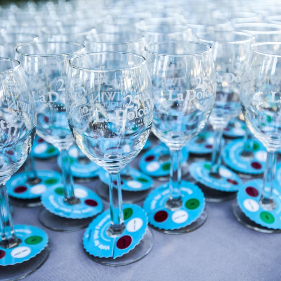 La Dolce Vita Food and Wine Festival The Contemporary Austin glasses 2014