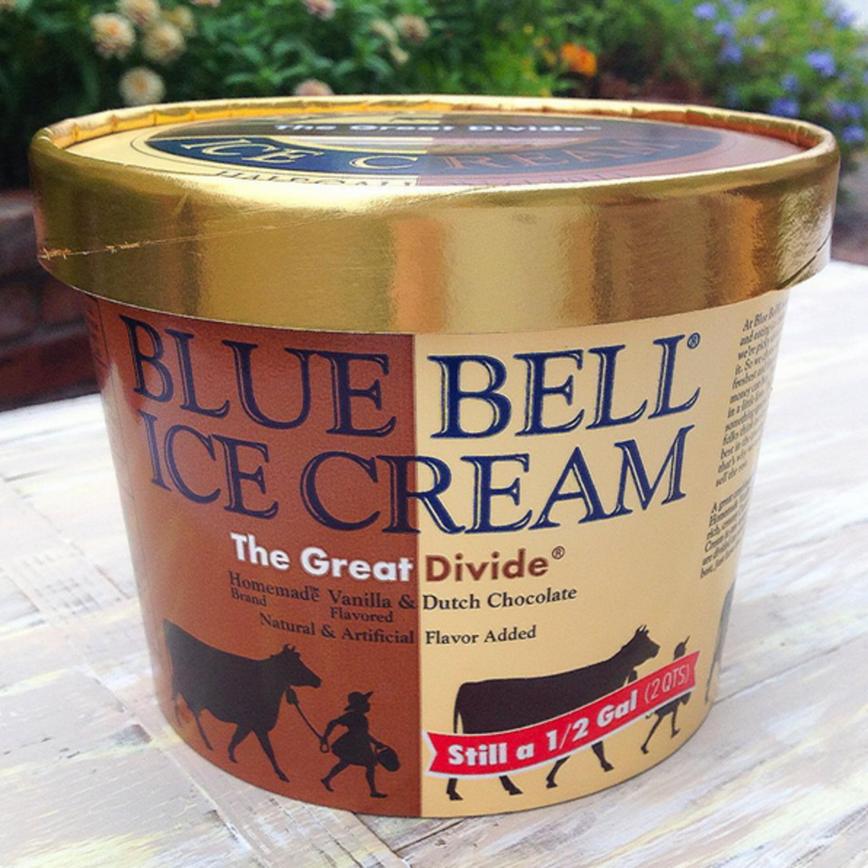 Houston, Blue Bell Ice Cream, August 2015, limited flavor The Great Divide