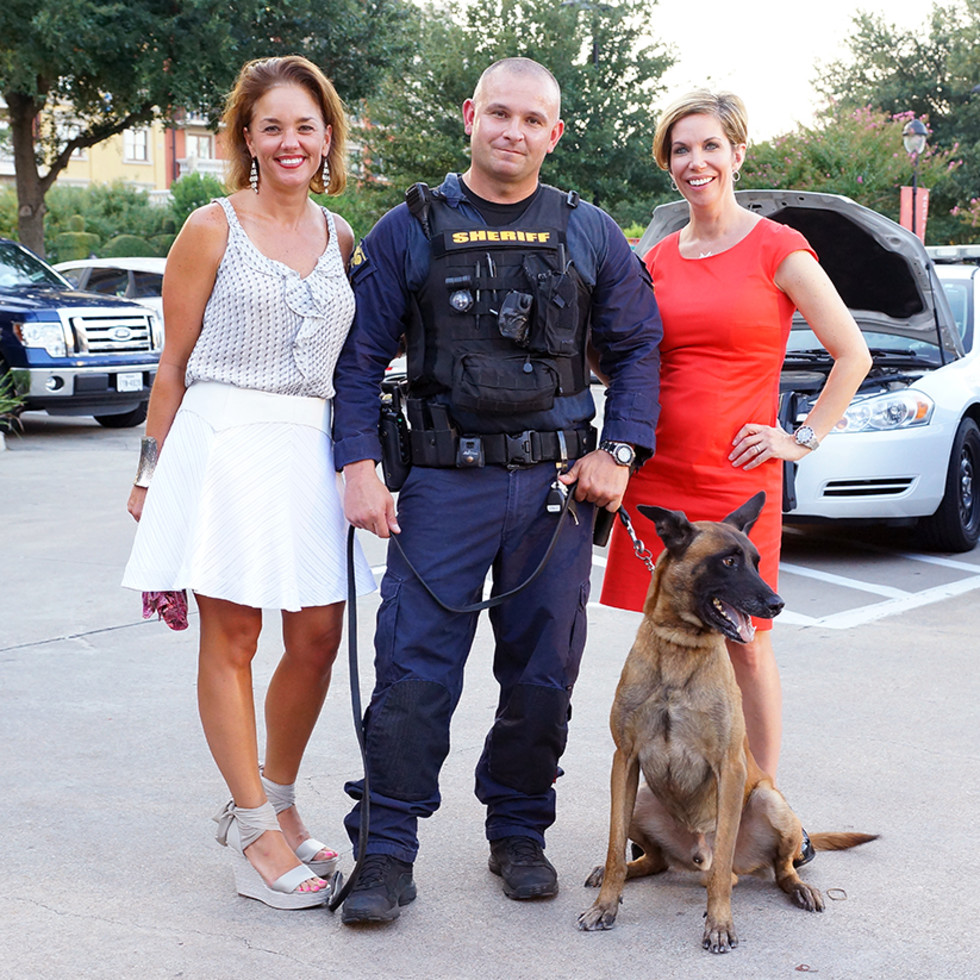Houston, Unleashed K9's for Cops Kickoff Party, August 2015, Audrey Mitchell, Chris Moore, Roseann Rogers