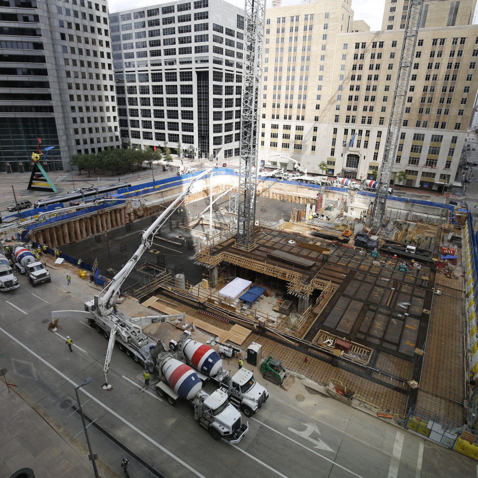 Foundation pour at Skanska Capitol Tower