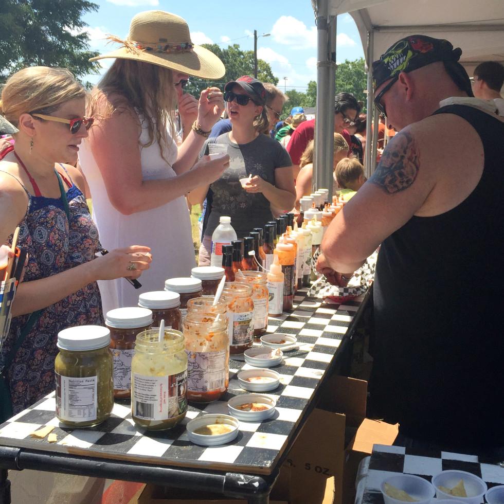 Austin Chronicle Hot Sauce Festival vendor samples High Octane Sauce Company 2015