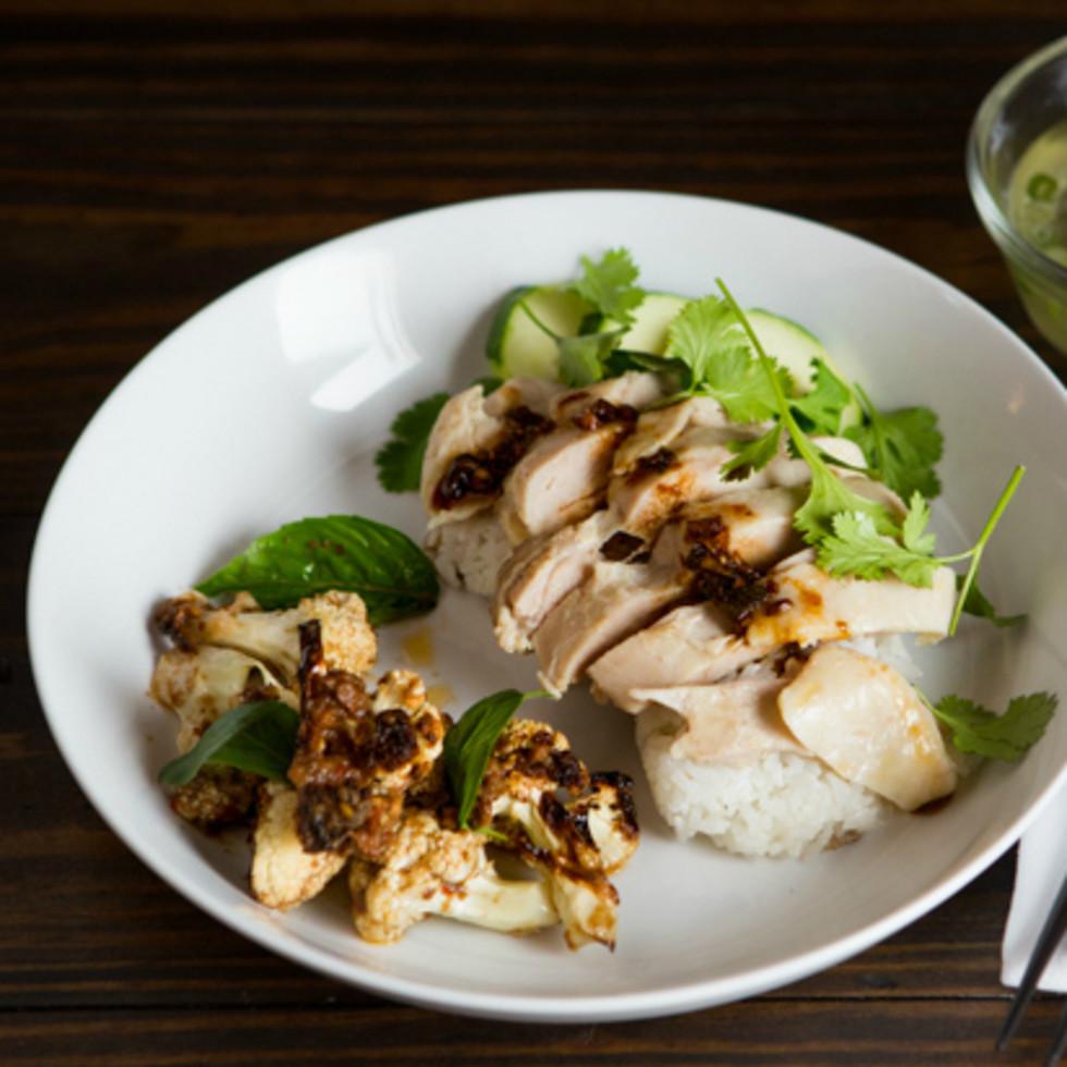 East Side King Khao Man Gai with Roasted Cauliflower Uber UberEATS August 2015
