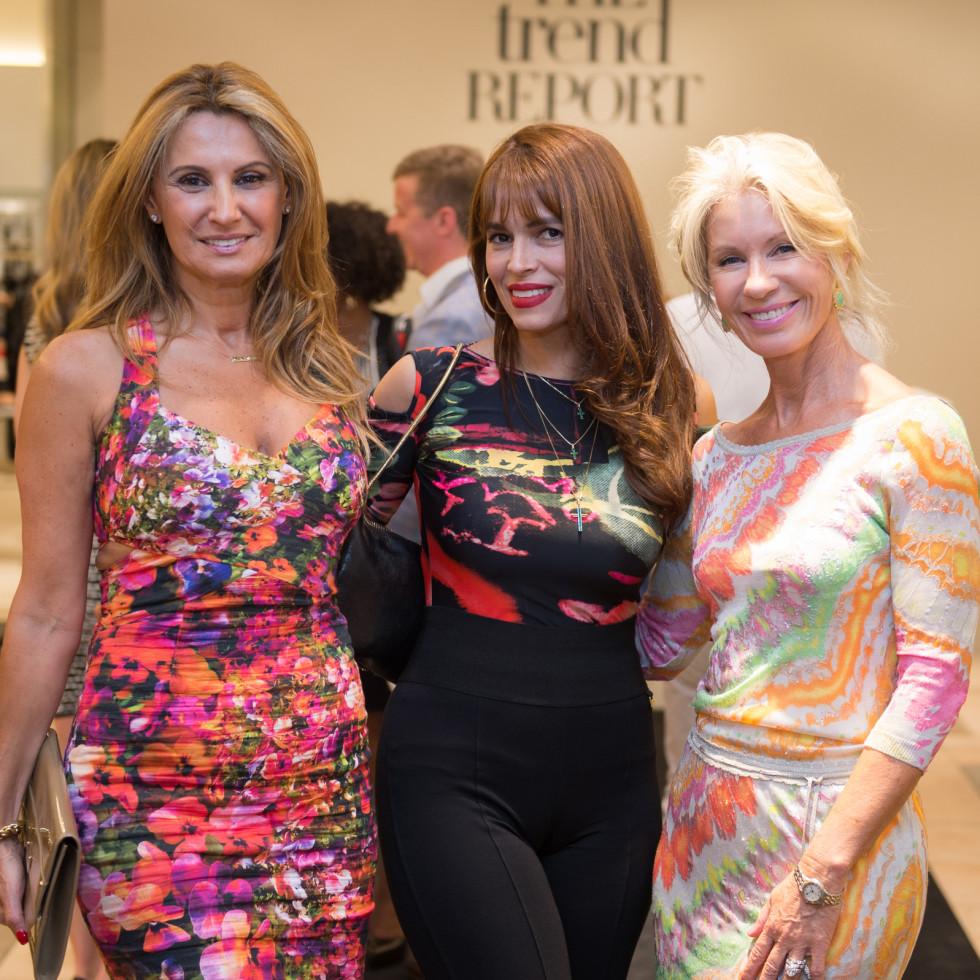 Varda Dror, Karina Barbieri, Penny Wright at Neiman Marcus Trend Event