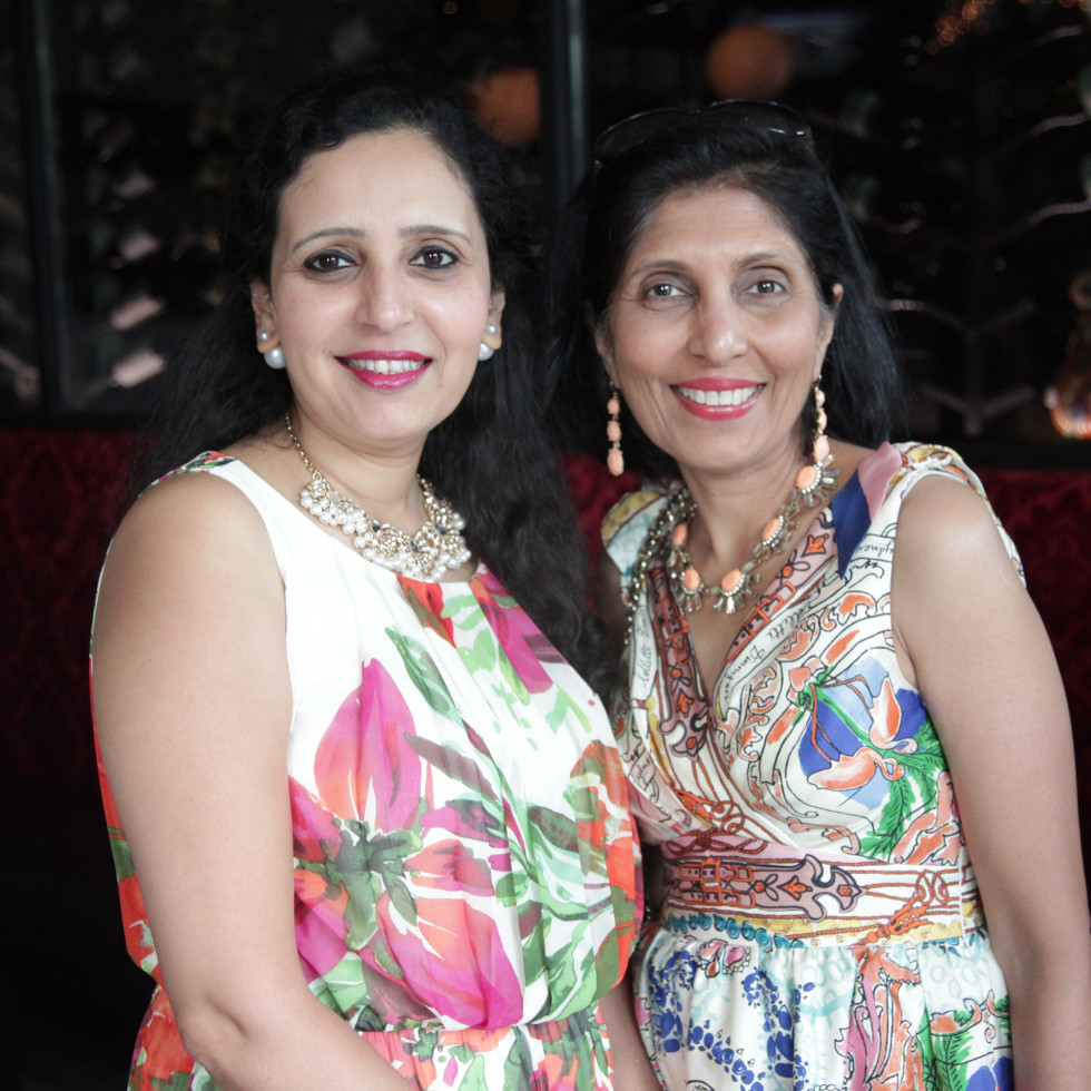 Chris Brown 40th Birthday Asha Dhume and Sujata Anand