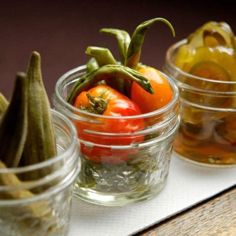 Houston, Bramble restaurant, July 2015, bramble pickled vegetables