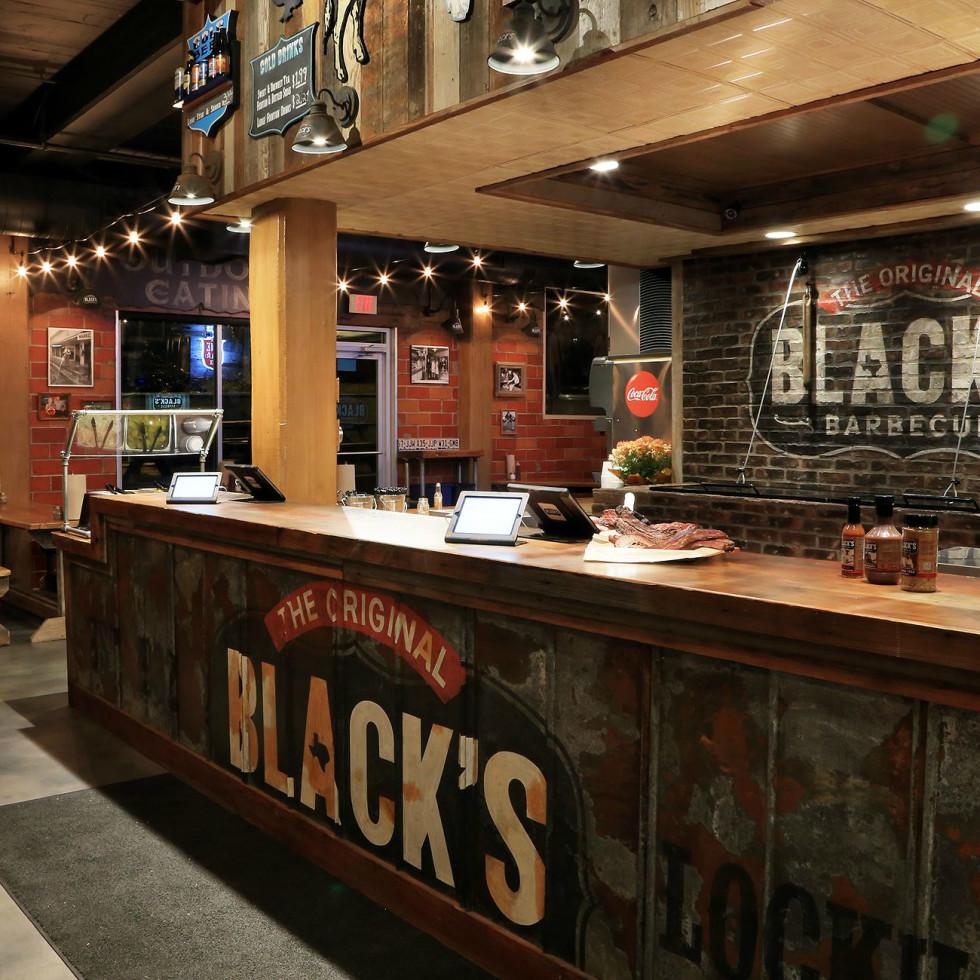 Black's Barbecue Austin location Guadalupe street restuarant bar interior