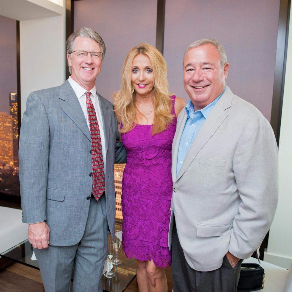 Houston, The River Oaks High Rise Preview Party, June 2015, John Hammond; Pamela McGlashen; Kirk Tate