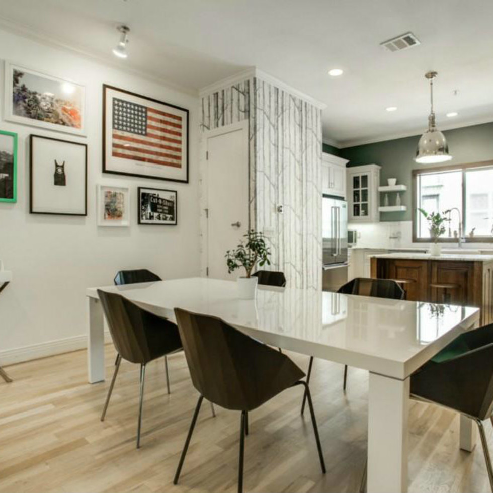 Dining and kitchen at 3009 State St. in Dallas