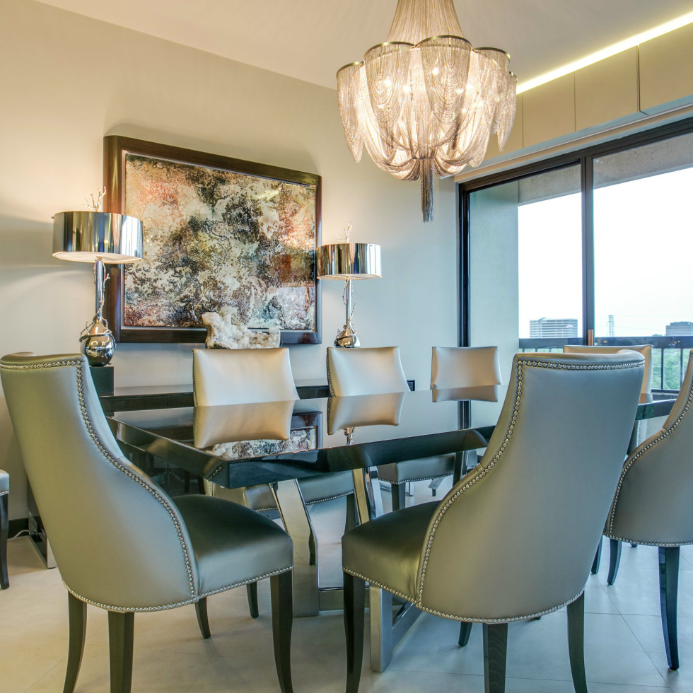 Dining room at 3831 Turtle Creek Blvd. in Dallas