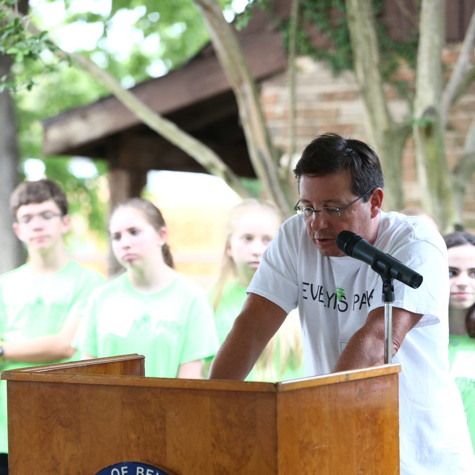 News, Shelby, Evelyn's Park Groundbreaking, june 2015, Keith Rubenstein