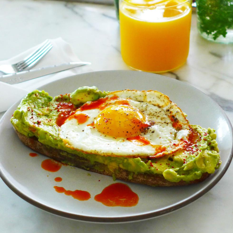 Avocado toast Josephine House breakfast