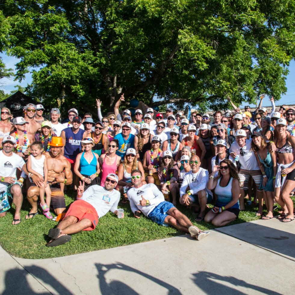 Tyler's Dam That Cancer_Flatwater Foundation_Happy Hour_group_2015