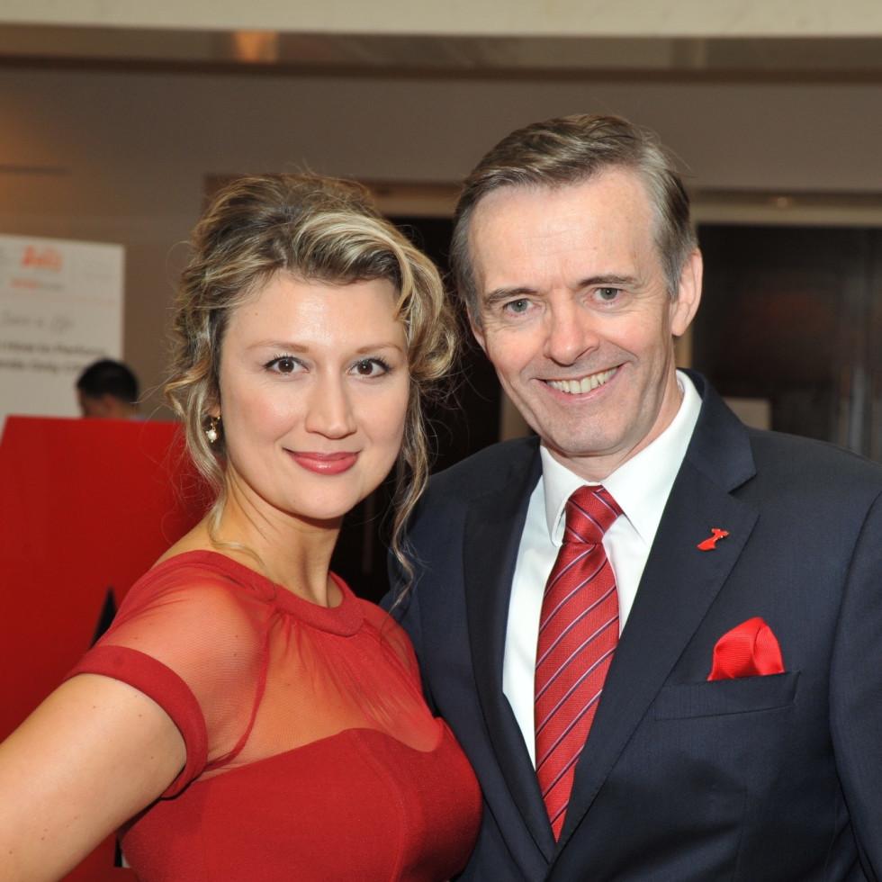 Go Red for Women luncheon, Yulia Veratennikova, Dr. Daniel Penny