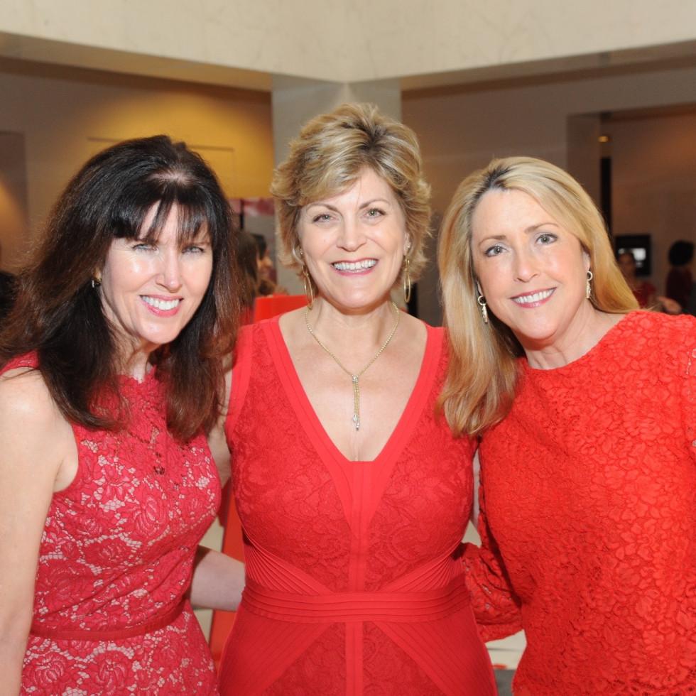 Go Red for Women luncheon, Martha Plunkett, Robyn Barness, Melissa McAnelly